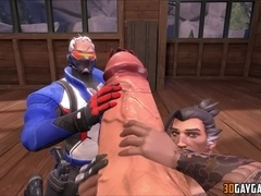 Interracial sex with human and Overwatch gay collection
