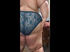 SuperChub Bottom With Fat Ass In Blue Panties