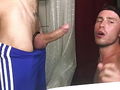 Sucking dick in the bathroom 2