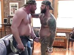 Jack Dixon and Eisen Loch fuck like bears in a cabin