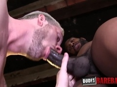 Rough studs August and Luca deepthroat before BBC bareback