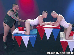 ClubInfernoDungeon extraordinary Self handballing & Group Fist Fuck foursome