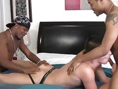 Black guys are eager to pound this white hooker