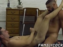 Stepfather fucks his stepson in taboo hypnotization porn