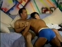 A queer gets his butt pounded hard in missionary position