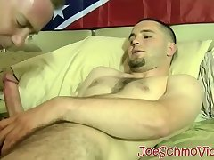 Horny hunk Seg jacks off and gets his cock sucked by Joe