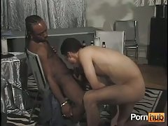 Randy guy drills ebony with long hair