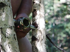 Good masturbation in forest 3