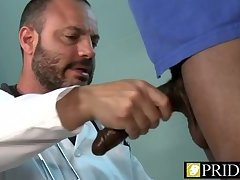 Doctor Joey Gets Ass Filled By Long Black Rod