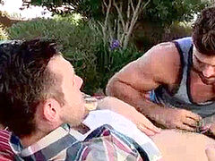 insane homorompual couple having sex outdoors