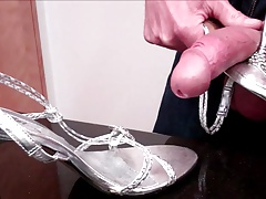 Sexy Silver Steel-Peg High Heels Get Fucked