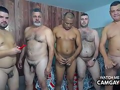 Mature foursome fucking hot and hard in live