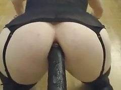Crossdresser dildo pov doggy