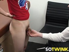 Young twink gets his ass fucked by mature doctors cock