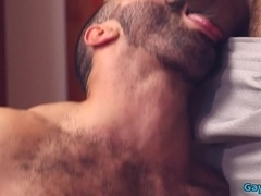 Muscle gay spanking with facial