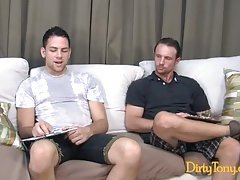 Naughty gay couple taming lust