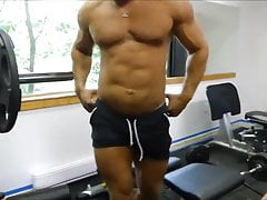 MM two Hairy Muscle Hunks Fuck Raw at the Gym