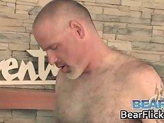 Atm twink bareback drilled by older bear