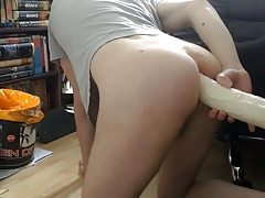 Big Dildo for a Skinny Ass