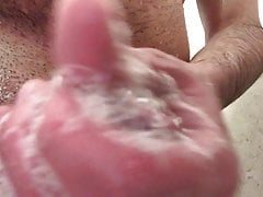 Cleaning my cock