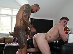 Sexy Bareback Gay Fucked on his Tight Analhole