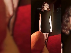 Natalia Dyer - black dress - Cum Tribute 6