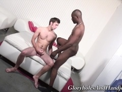 Eliah shows his cock-rubbing skills to black poofter Tyrese