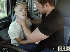 Stranded twink tormented and mercilessly fucked by dom