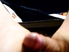 Uncut cock going soft to hard