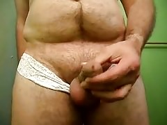 Big balls small thick small hard dick out of sexy underwear