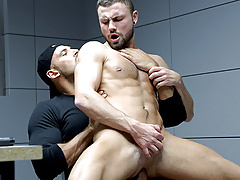 Jeffrey Lloyd gets a raw cop cock from Thomas Friedl
