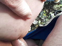 71 years old grandpa fucked in the forest