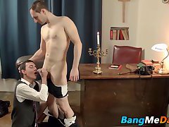Father Victor decides to punish Oscar Hart for being naughty