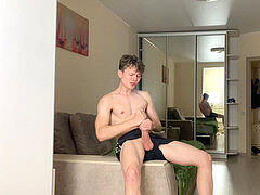 astounding Young boy Gets Money from Strangers for tugging Off /Big Dick/Uncut
