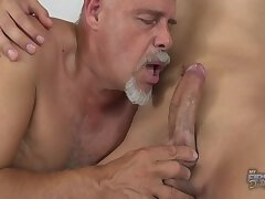 smooth twink barefucked by old fat man