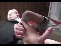Grandpa Takes Monster Black Cock