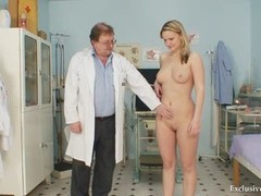 Zaneta Has Her Pussy Gyno Speculum Analyzed By Aged Doctor