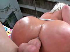 Fine hottie Kimmy Olsen moans while her booty is fucked