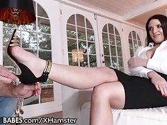 Angela White Sexy Feet Worshiped