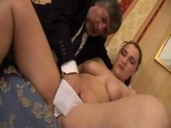 Daughter from Norway Taboo sex with dirty aged uncle for no 1 time