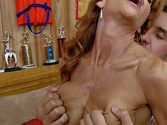 Redhead Stepmom with Huge Tits