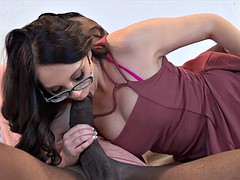4k Nickey gets her asshole stretched by a 12 inch black cock