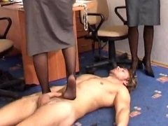 Office femdom cropping and dominating co-worker