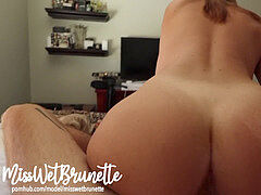 Amateur reverse cowgirl plow With A mouthhole Of Cum