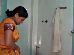 Desi Aunty Strip tease in Shower
