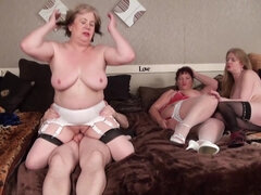 Foursome Grannies - MILF hardcore group sex