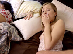 Haley Reed fucks her stepdad while mom is sleeping