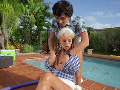 Granny Sally D'Angelo craves young man meat