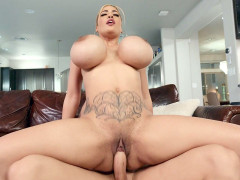 Blonde Amber Alena rides the hard cock