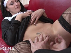 Young Cutie Nun Gets Steamy With Priest